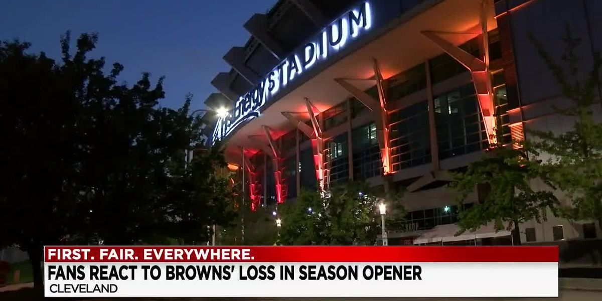 Some Cleveland Browns fans just happy to see their team take the field even with no fans in the stands