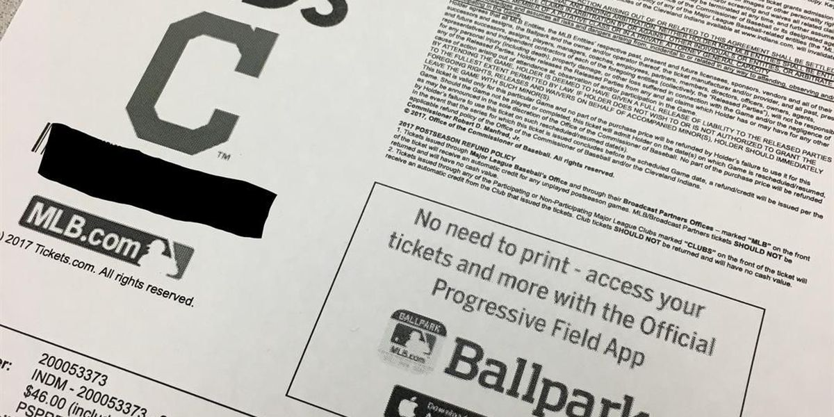 Cleveland Indians revoking season tickets sold on secondary market