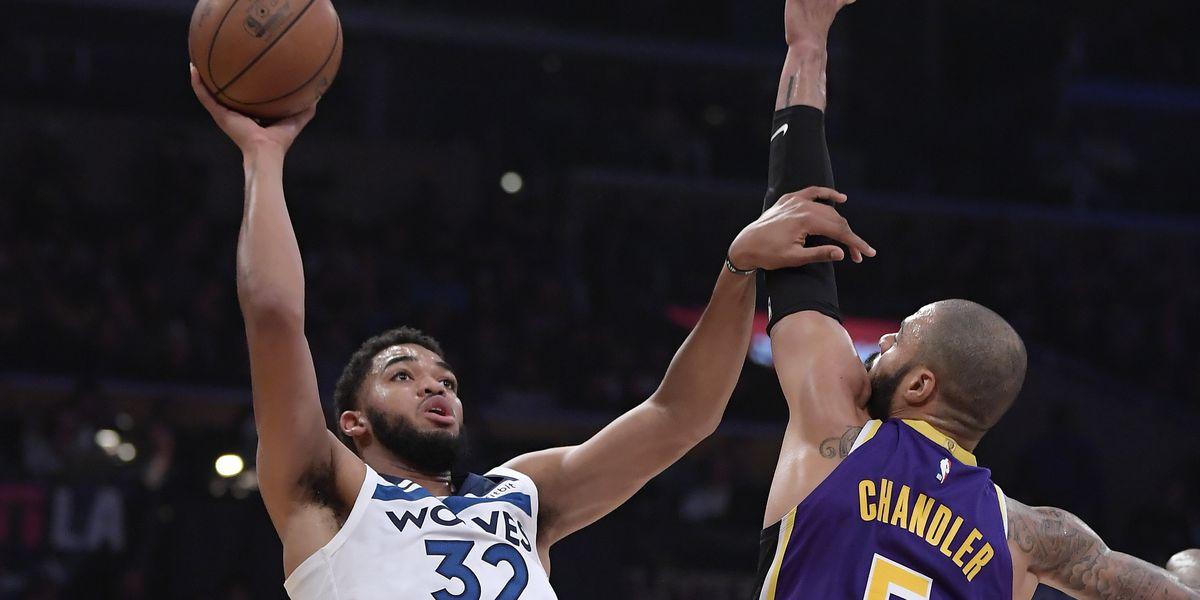 Chandler has impactful debut as Lakers beat Wolves 114-110