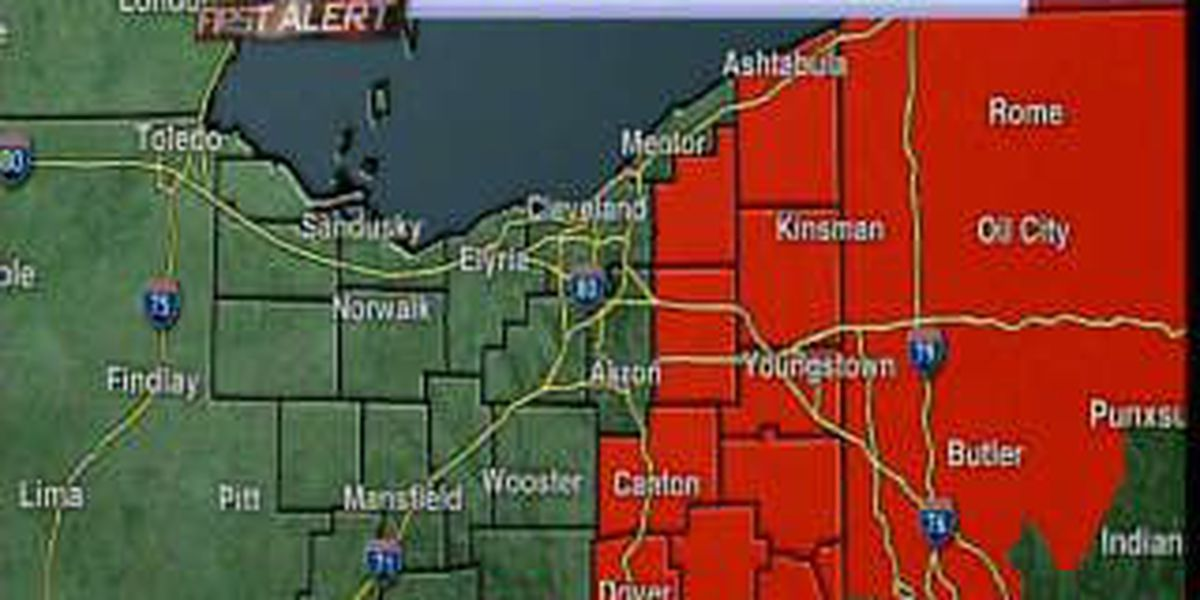 Update: Winter Storm Warning issued for some counties in Northeast Ohio