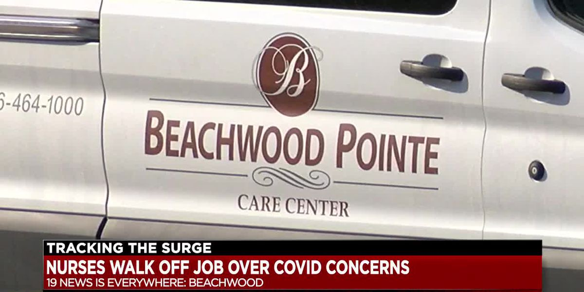 Nurses protest over hazard pay as they take care of COVID 19 patients at Beachwood nursing home