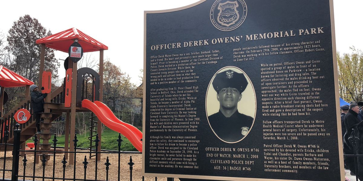 Fallen Cleveland Police officer Derek Owens honored with memorial park