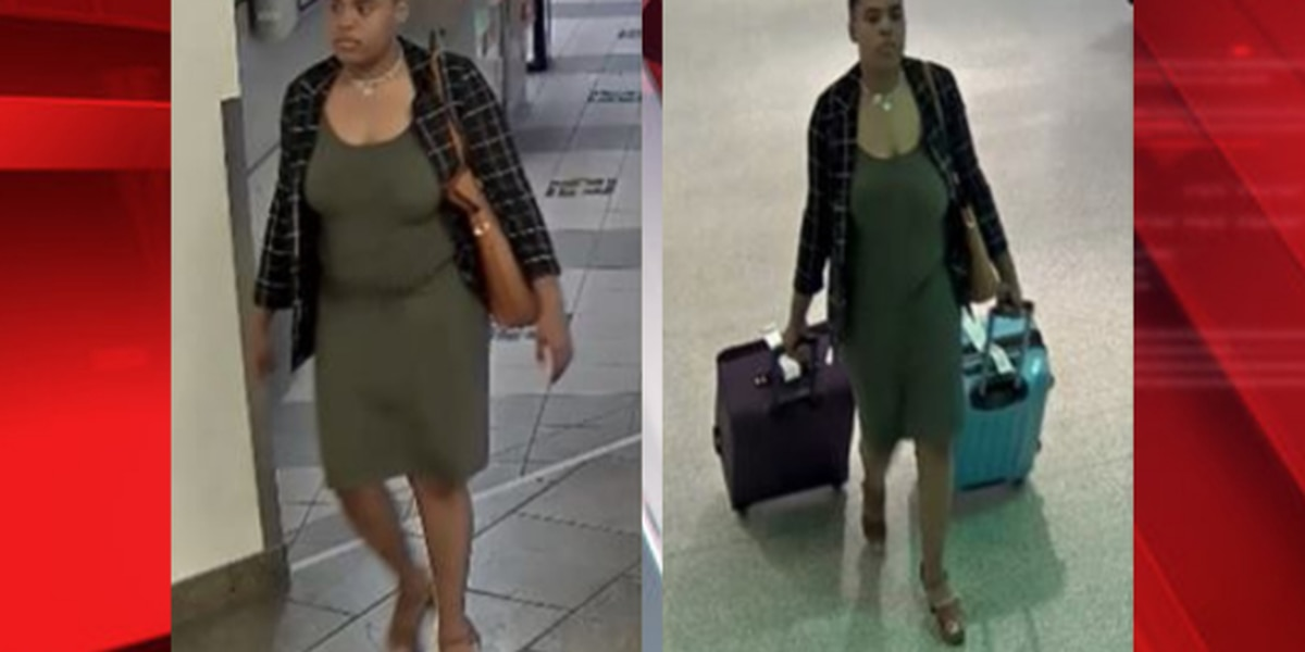 Police look for woman accused of stealing luggage from Cleveland Hopkins International Airport