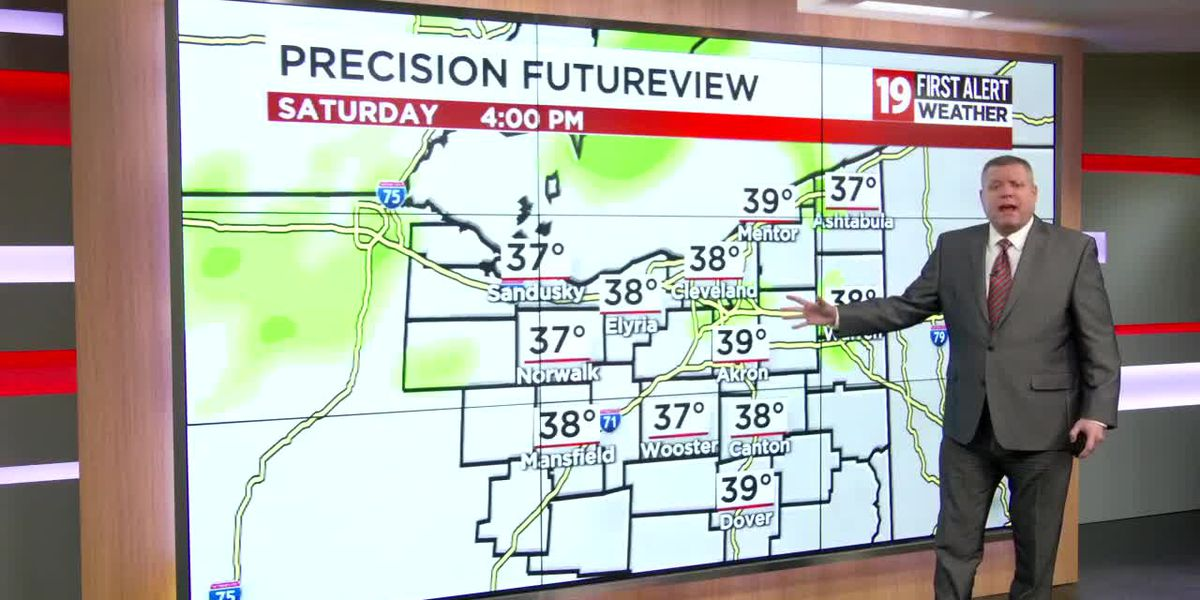 Northeast Ohio weather: Flakes end tonight, wintry mix on the way this weekend