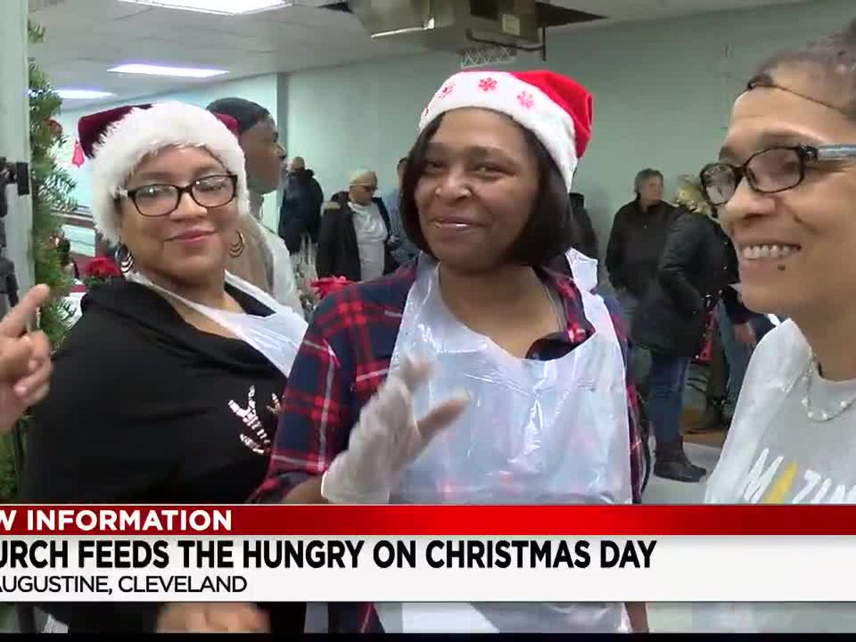 Christmas spirit shines at St. Augustine's in Cleveland as volunteers feed the needy