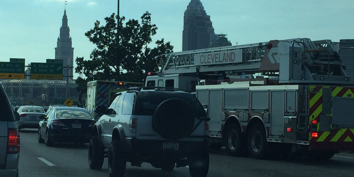 Accident closes E. 22nd, traffic backed up
