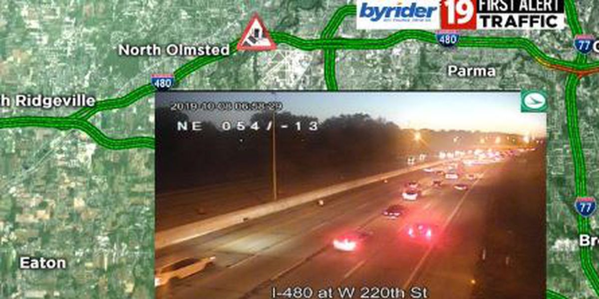 Multiple vehicle accident near Grayton Road causing delays on I-480 East