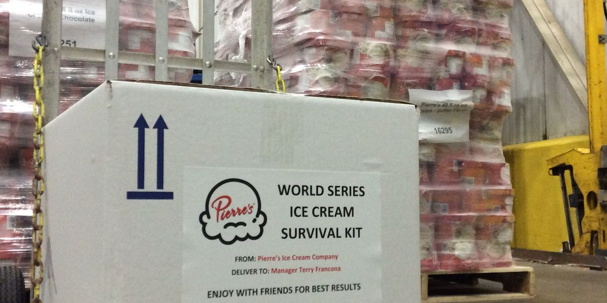 Pierre's sends Francona World Series Survival Kit packed with ice cream