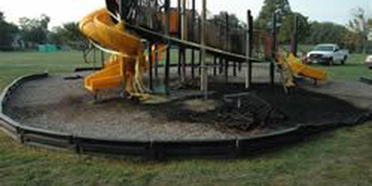 SLIDESHOW: Fire at Massillon playground ruled arson