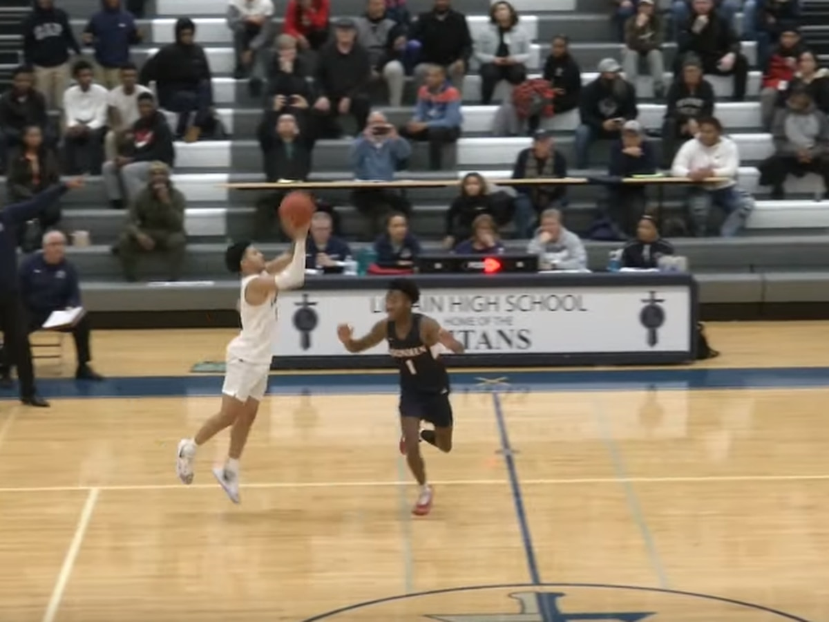 Lorain High School wins in overtime with incredible half-court buzzer beater (video)