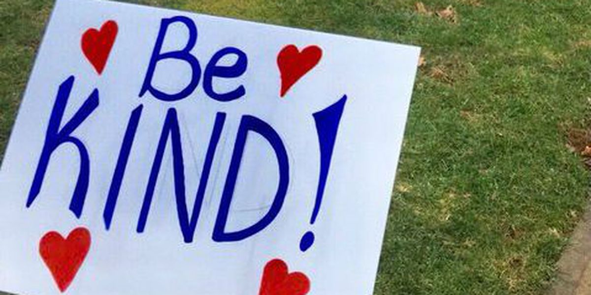 Kirtland Elementary spreads message of hope with signs on campus