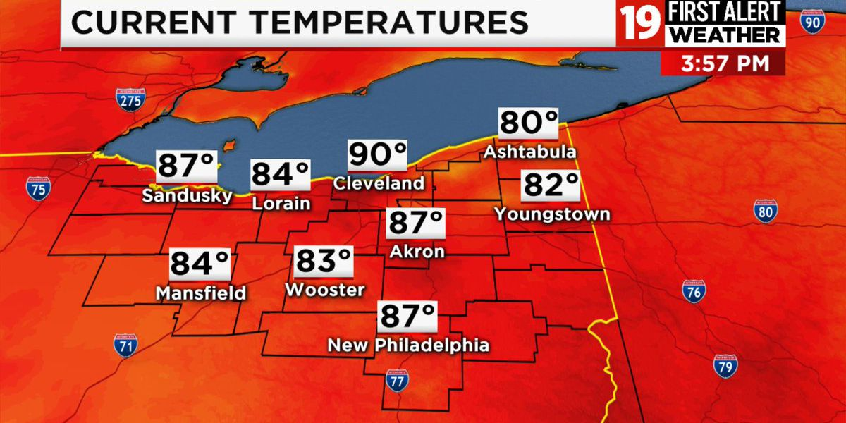 Northeast Ohio weather: Showers return overnight Sunday