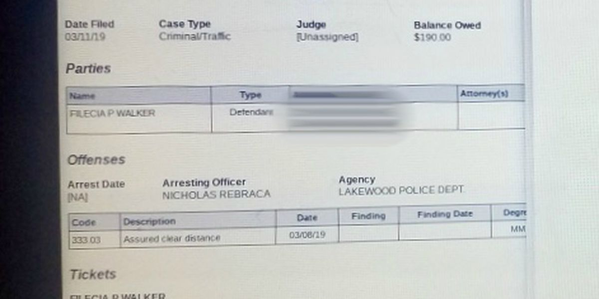 Lakewood Clerk of Courts Office admits mistake after haggling with woman over traffic fine