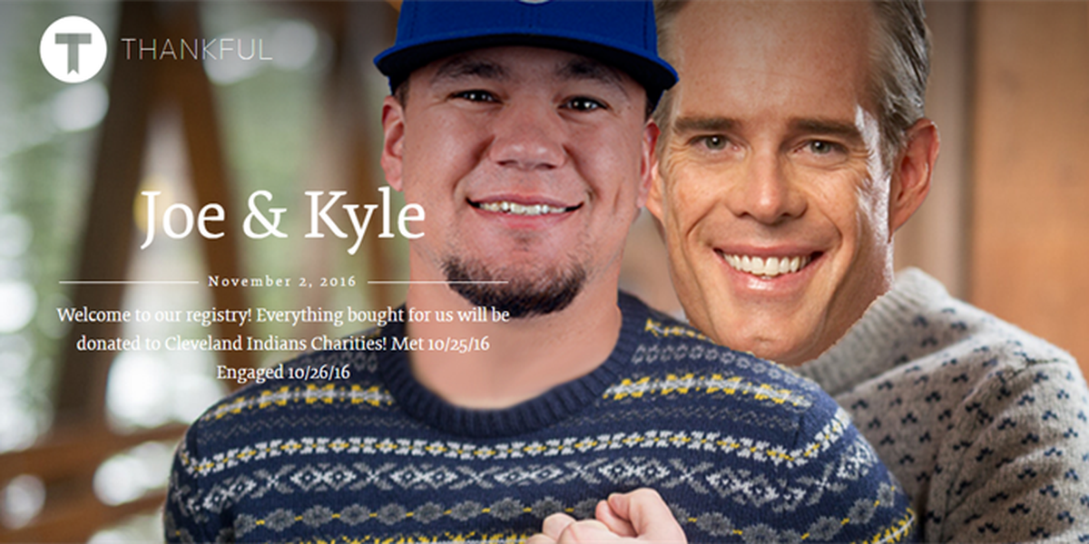 Someone made a wedding registry for Kyle Schwarber and Joe Buck