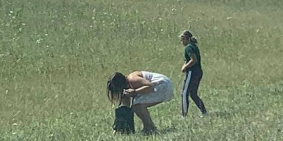 Good Samaritans caught on camera picking up trash on side of Dayton highway while president's visit closed roads
