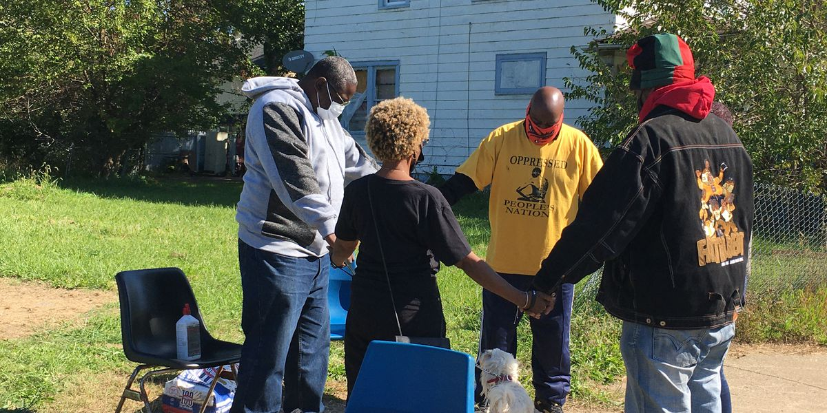 "East Cleveland's ""Block Watch"" campout ends peacefully with prayer"