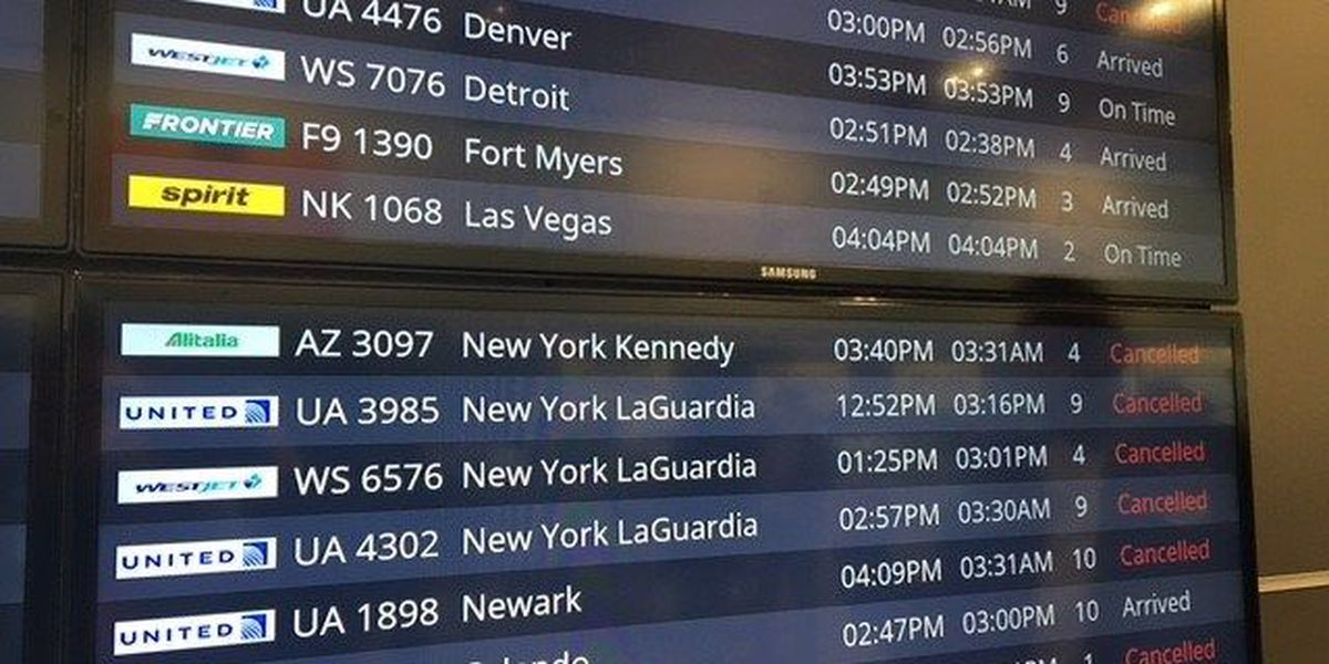Cleveland Hopkins International Airport flight and baggage screens have shut down; city has not yet elaborated on what caused the issues