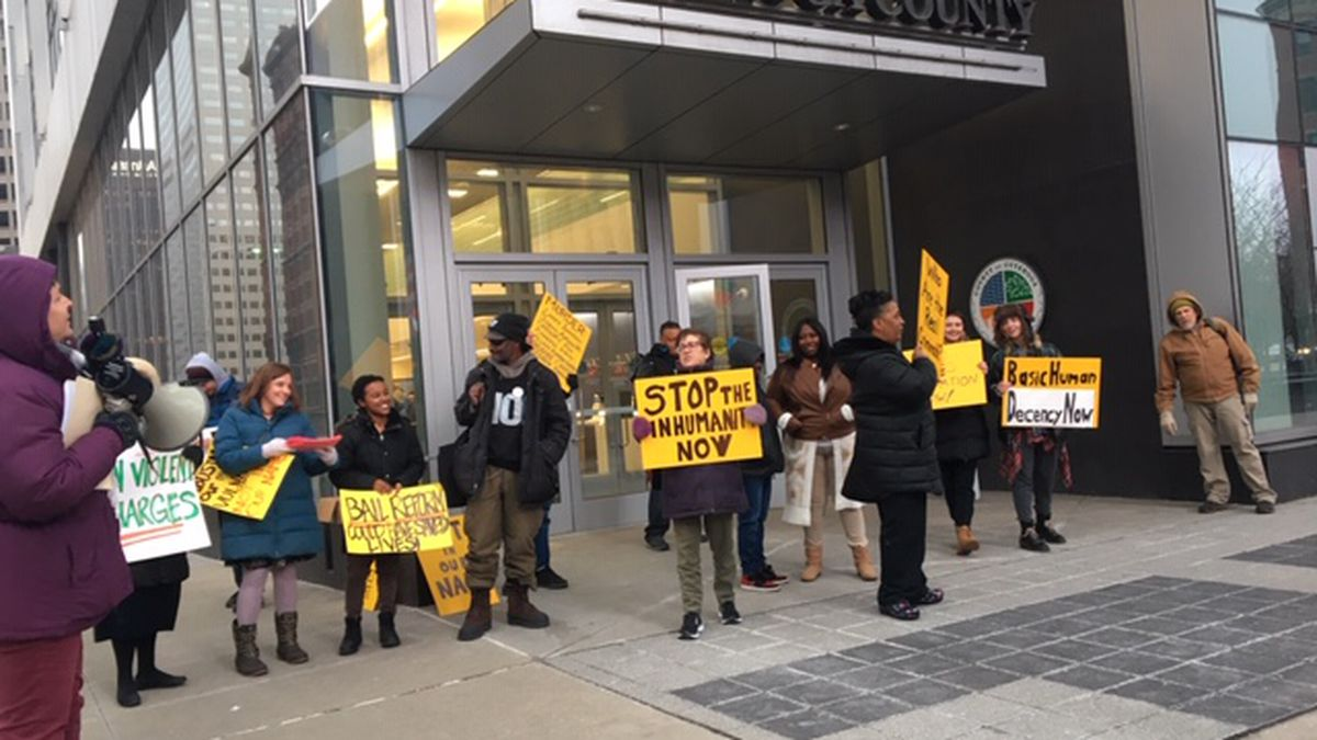 Community protests for change at Cuyahoga County Jail