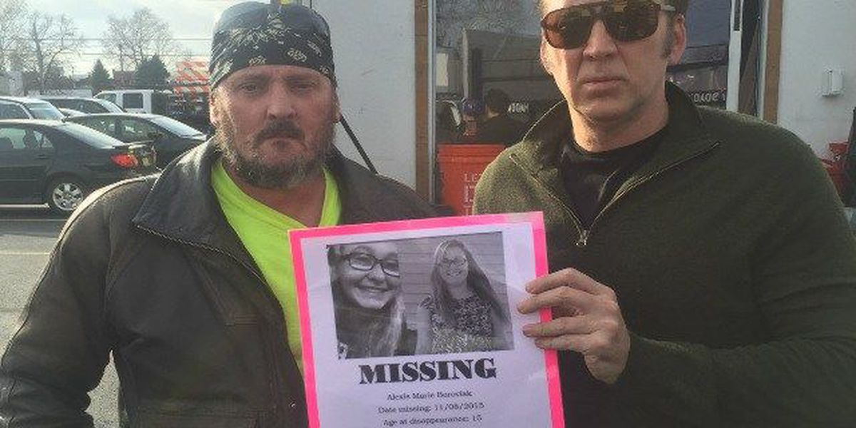 Actor Nicolas Cage shows support for missing Brooklyn teen