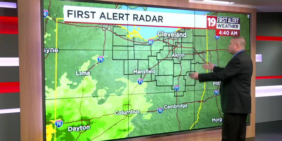 Northeast Ohio weather: Rain picks back up overnight, wet start to Thanksgiving