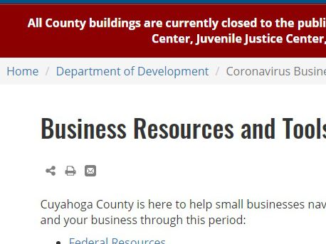 Cuyahoga County Executive announces new resources for struggling businesses impacted by coronavirus restrictions