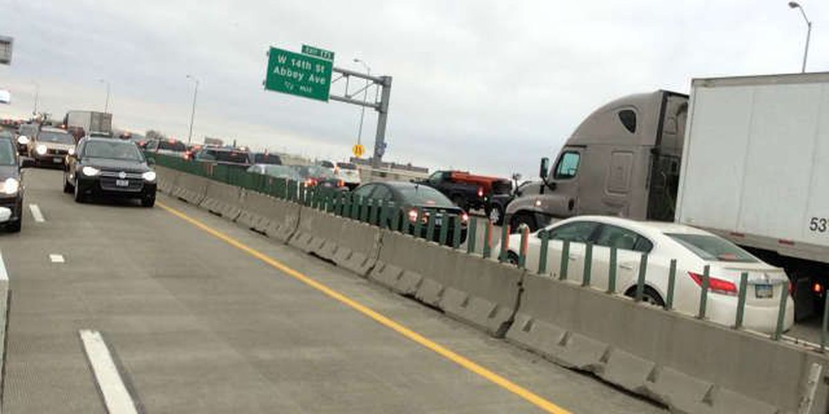 Multi-car accident on westbound Innerbelt Saturday evening