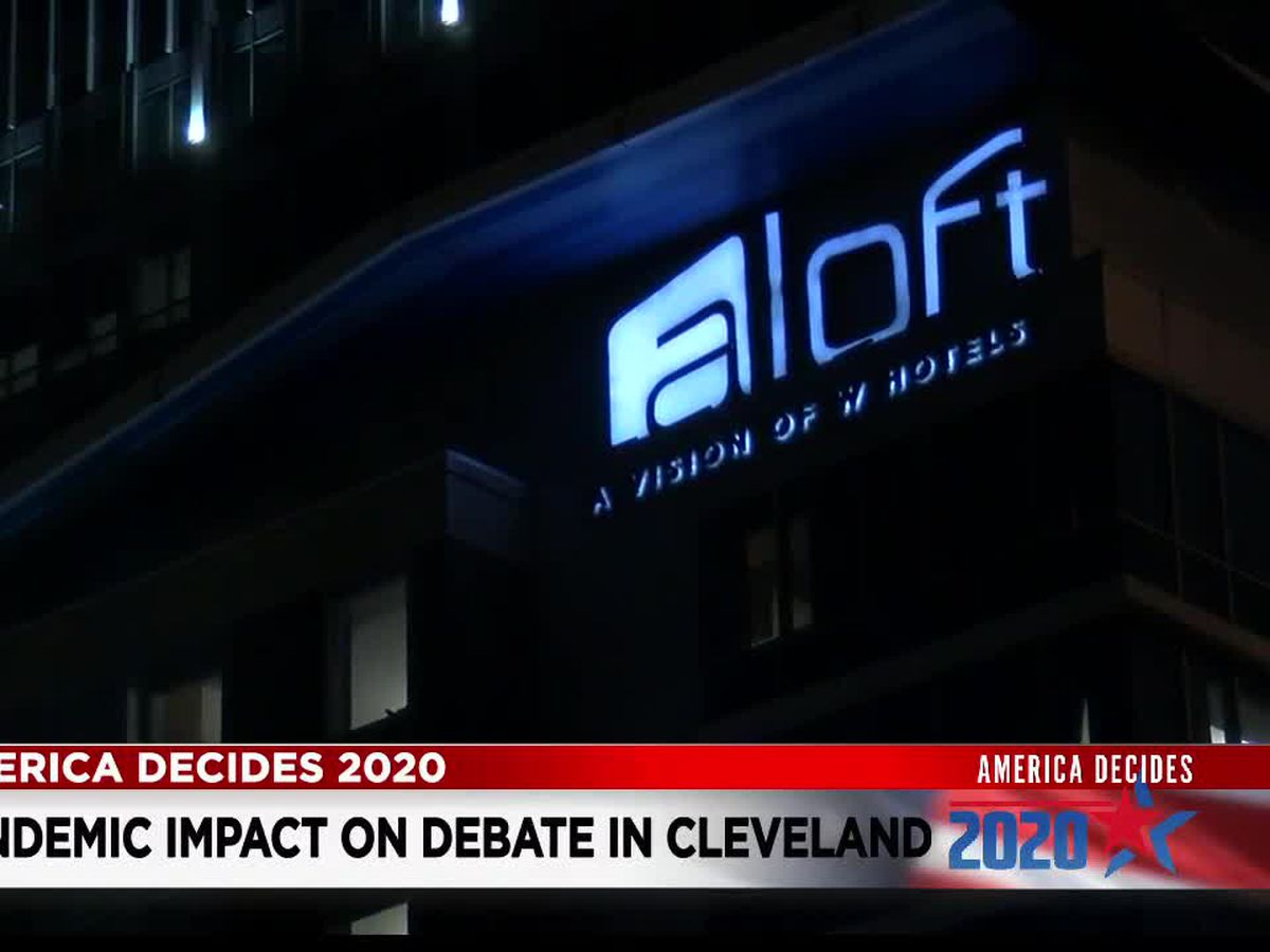 Cleveland hotel manager says this could've been a big week for Cleveland with the presidential debate, Indians playoff games, but because of COVID-19 they are seeing almost no impacts