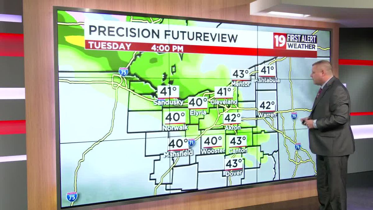 Northeast Ohio Weather: Cloudy today with isolated afternoon showers
