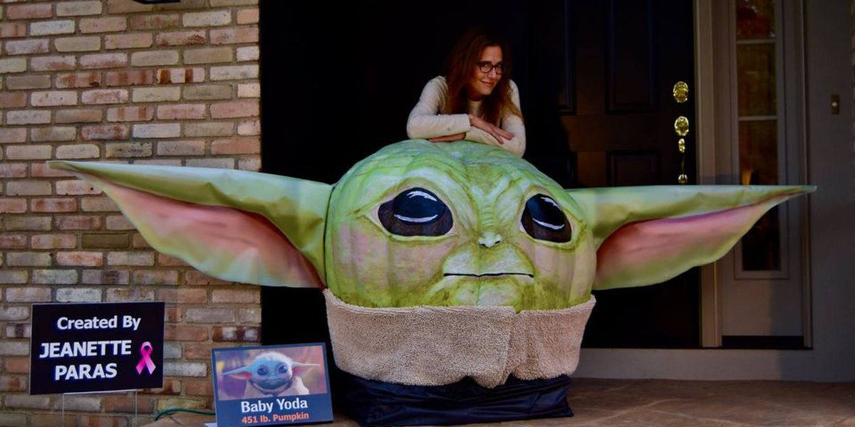 Ohio woman turns 451-pound pumpkin into 'Baby Yoda' (video)
