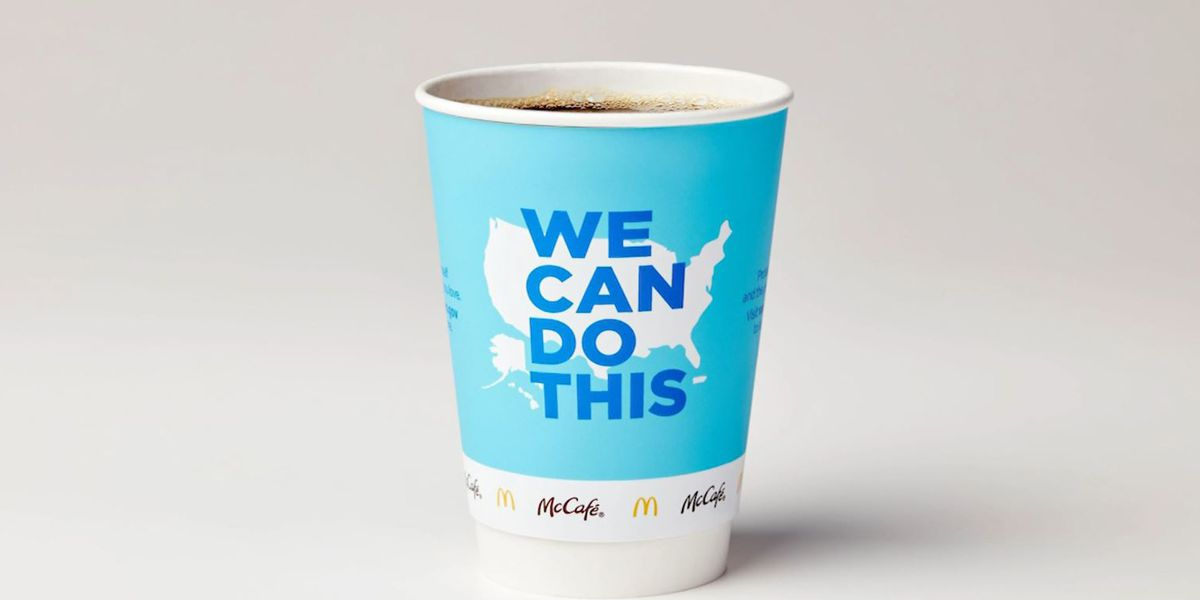 McDonald's changing its coffee cups to promote COVID-19 vaccines