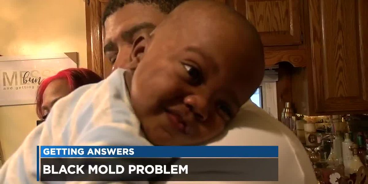 Cleveland family says black mold put premature baby in hospital; landlord pledges fix