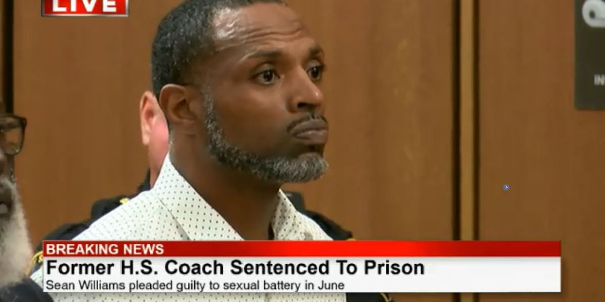 Former Bedford football coach sentenced to 6 years for sexual battery with female student