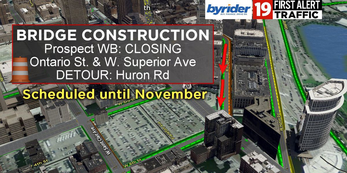 19 First Alert Traffic: 2 major Cleveland roadways scheduled to close for at least 7 months