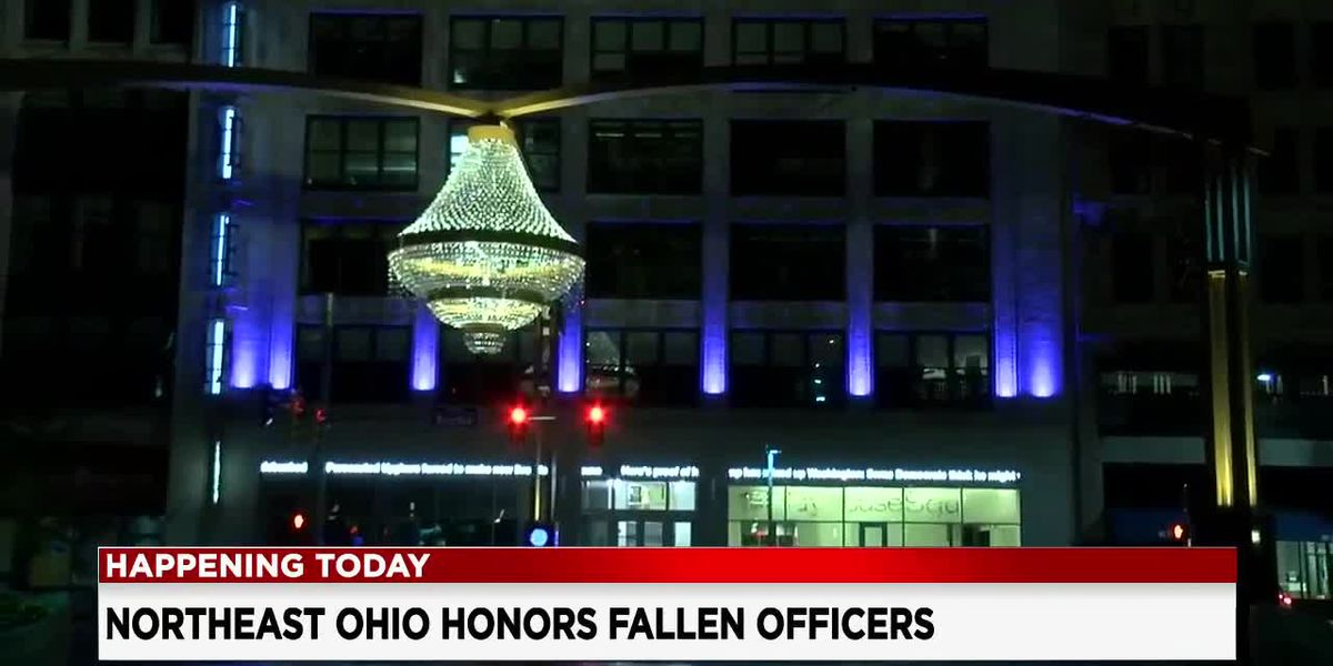 Cleveland celebrating Police Week by lighting the city blue