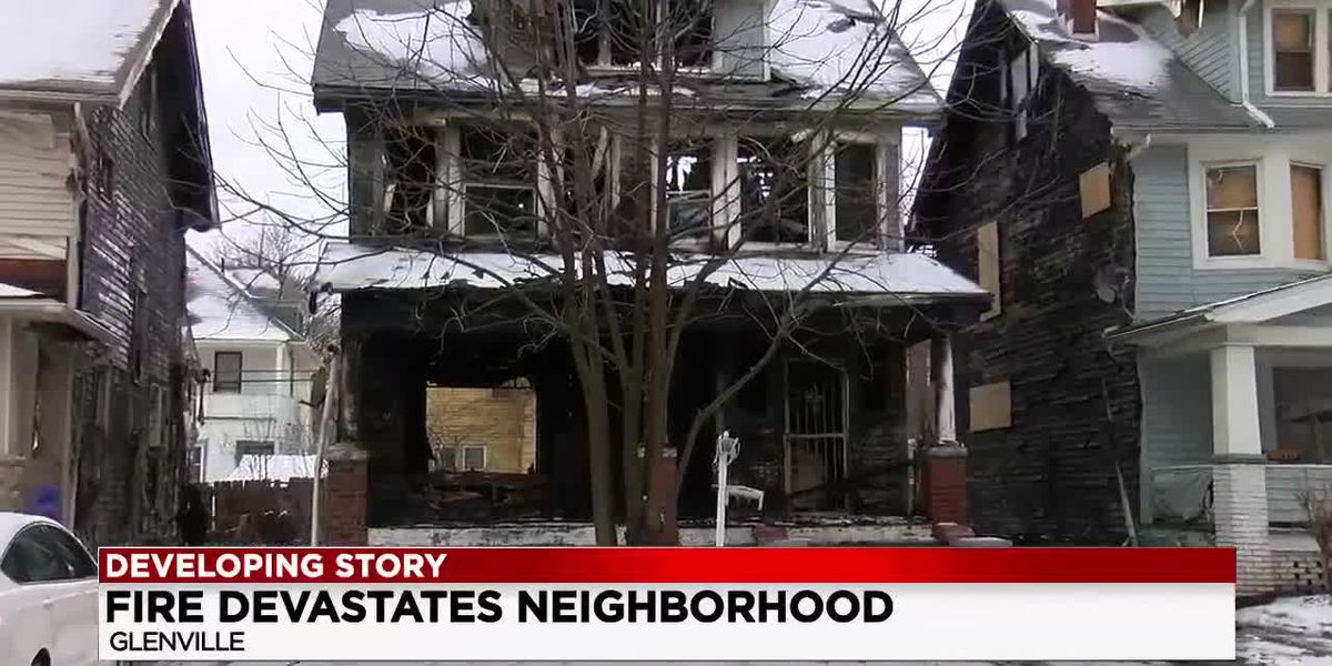 Fire guts Glenville home but also displaces residents on either side