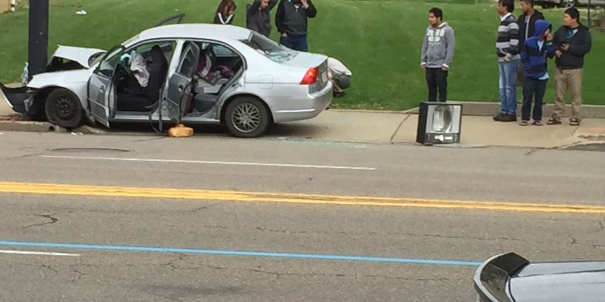Two ejected during car crash on N. Main Street