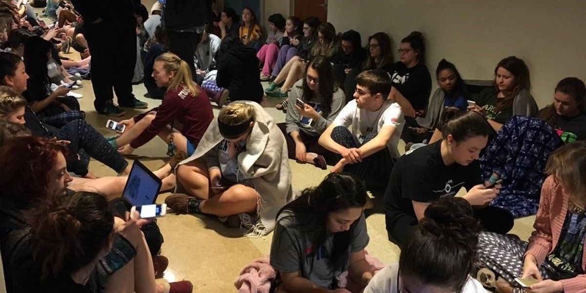 Kent State students shelter from severe storms in dorm basements
