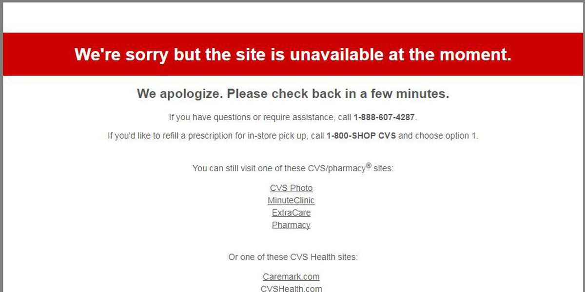 CVS Pharmacy experiencing intermittent outages