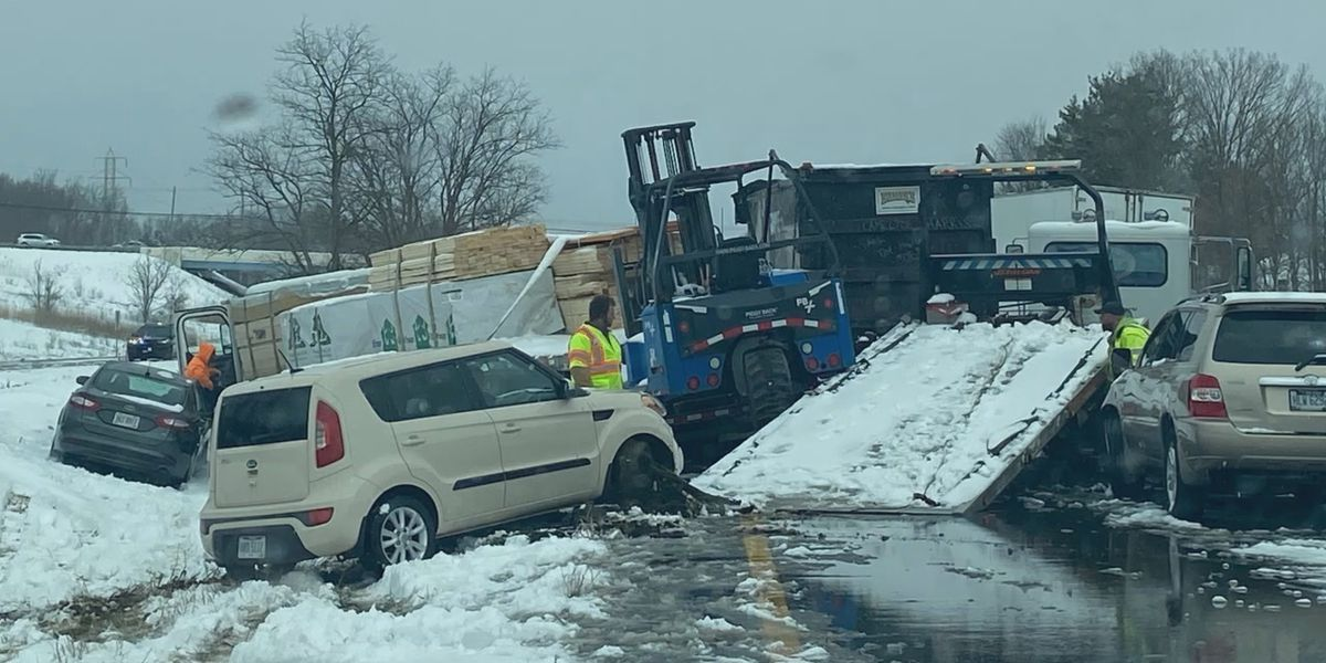 I-77 back open after hours-long shut down due to multiple crashes