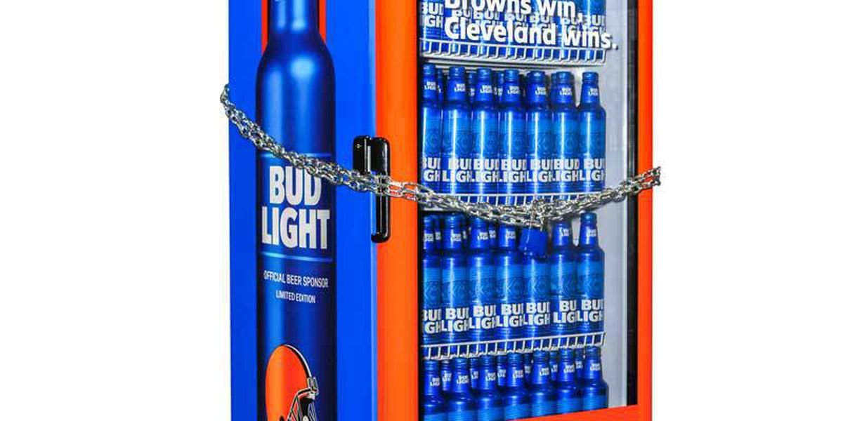 Bud Light Browns victory fridges available for purchase