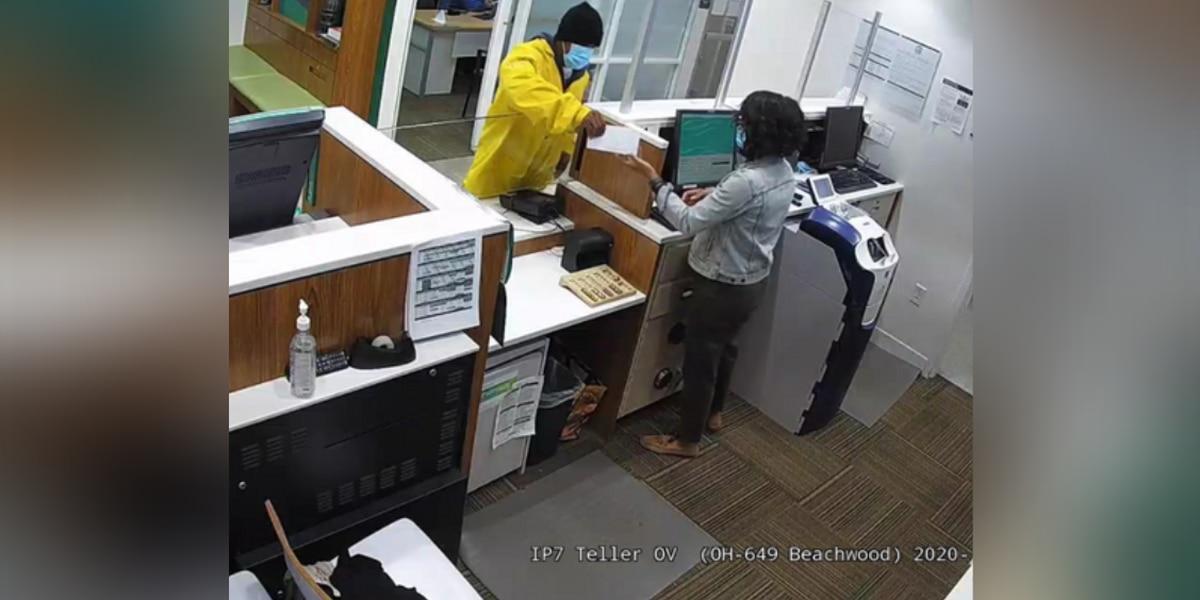 Authorities seeking public's help to identify man who robbed a Beachwood bank