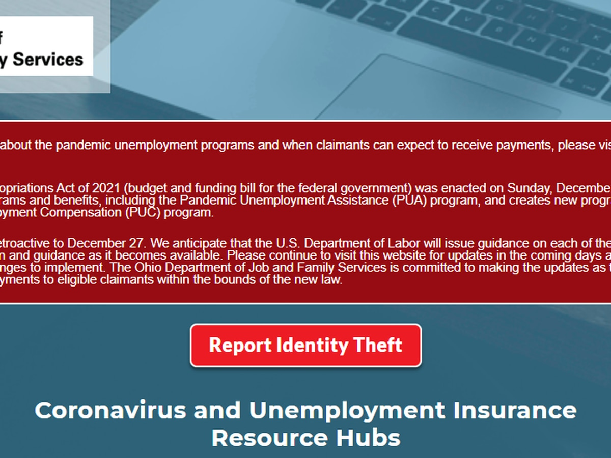 State unemployment office adds portal for Ohioans to report fraud as agents prepare to send out tax documents