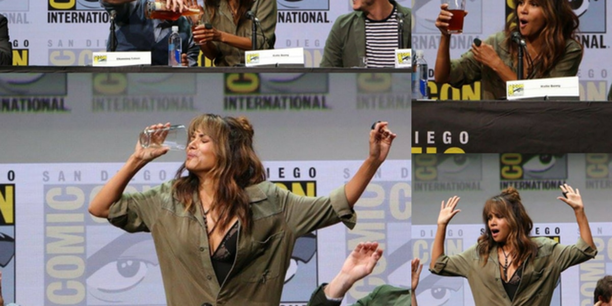 Cleveland native Halle Berry chugs half pint of whiskey