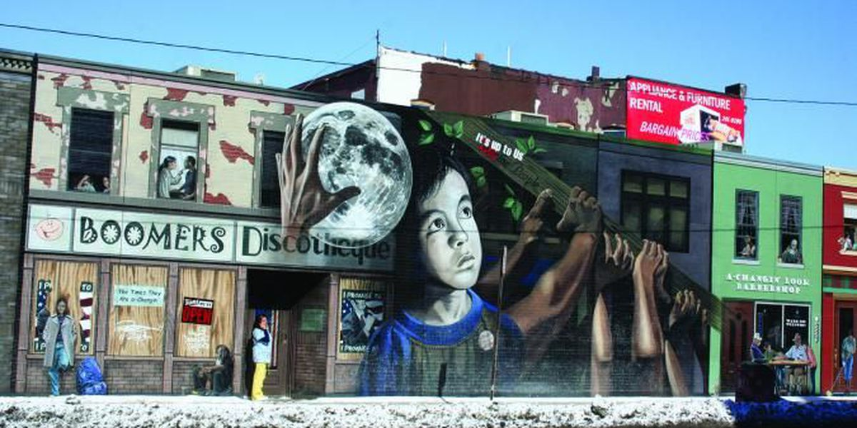 Money secured to restore graffitied 'It's Up to Us' mural in Cleveland