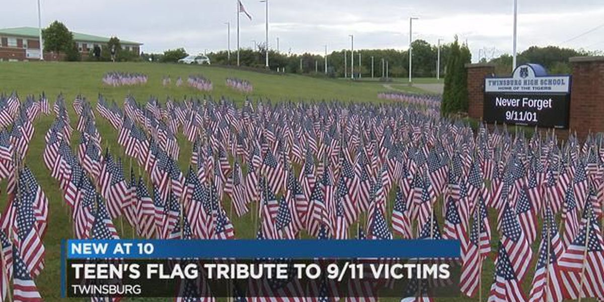 3,000 flags for 3,000 fallen: Twinsburg teen honors 9/11 victims and brave patriots