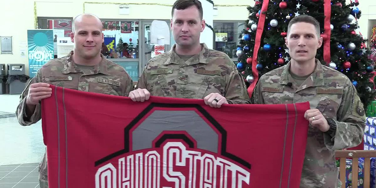 Capt Eric Minshall, MSgt Charles Bishop, TSgt Chris Reed of Plain City, OH