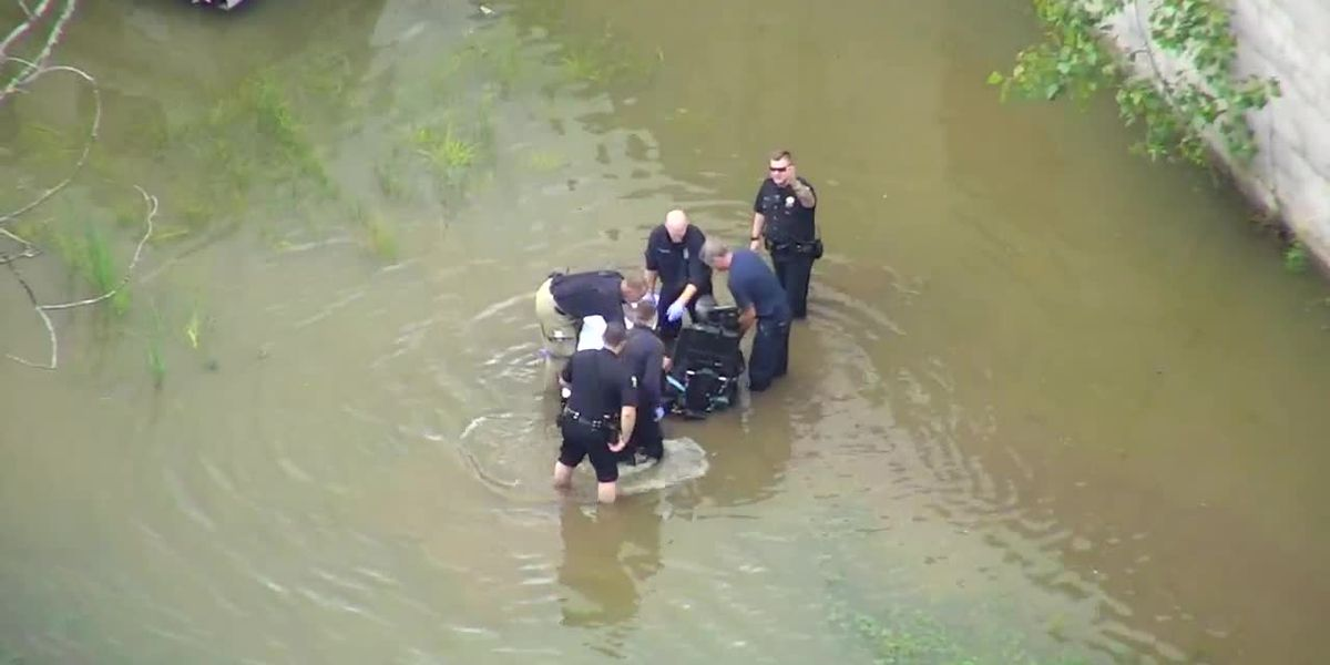 Missing Mansfield man bound to wheelchair rescued from waist-high flood waters (video)