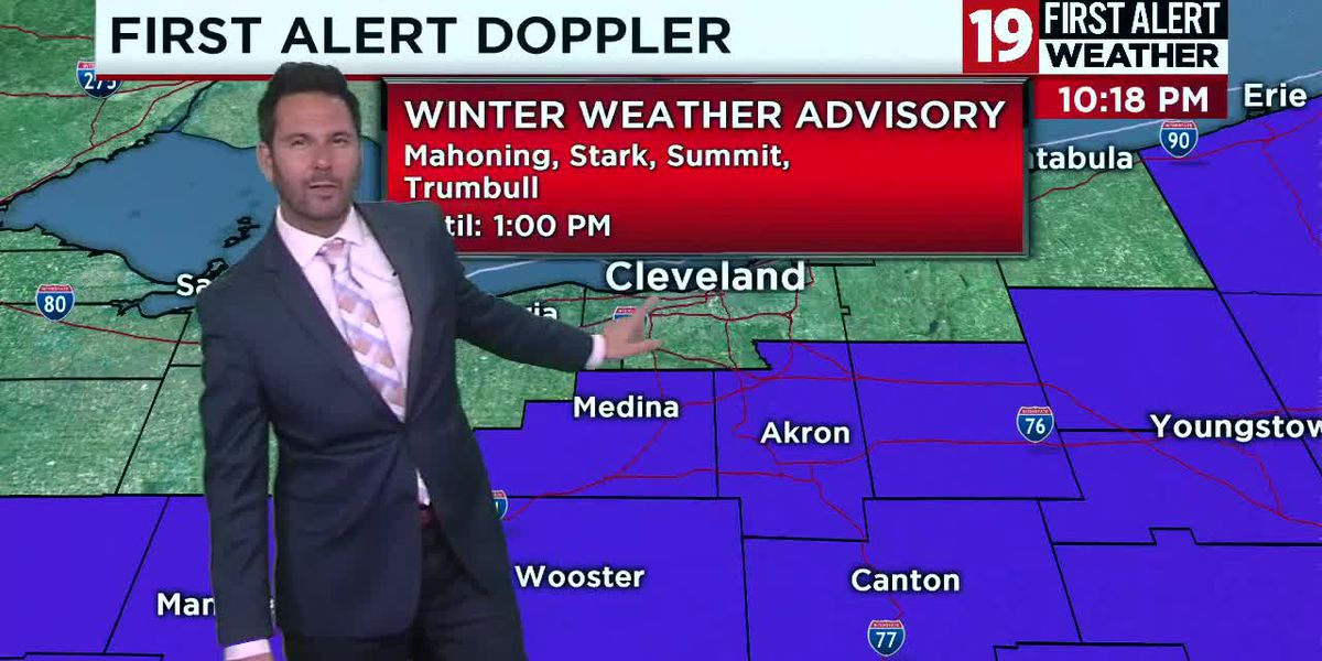 Northeast Ohio Weather: Disruptive snow and rain move in overnight, 1″ - 3″ of snow possible