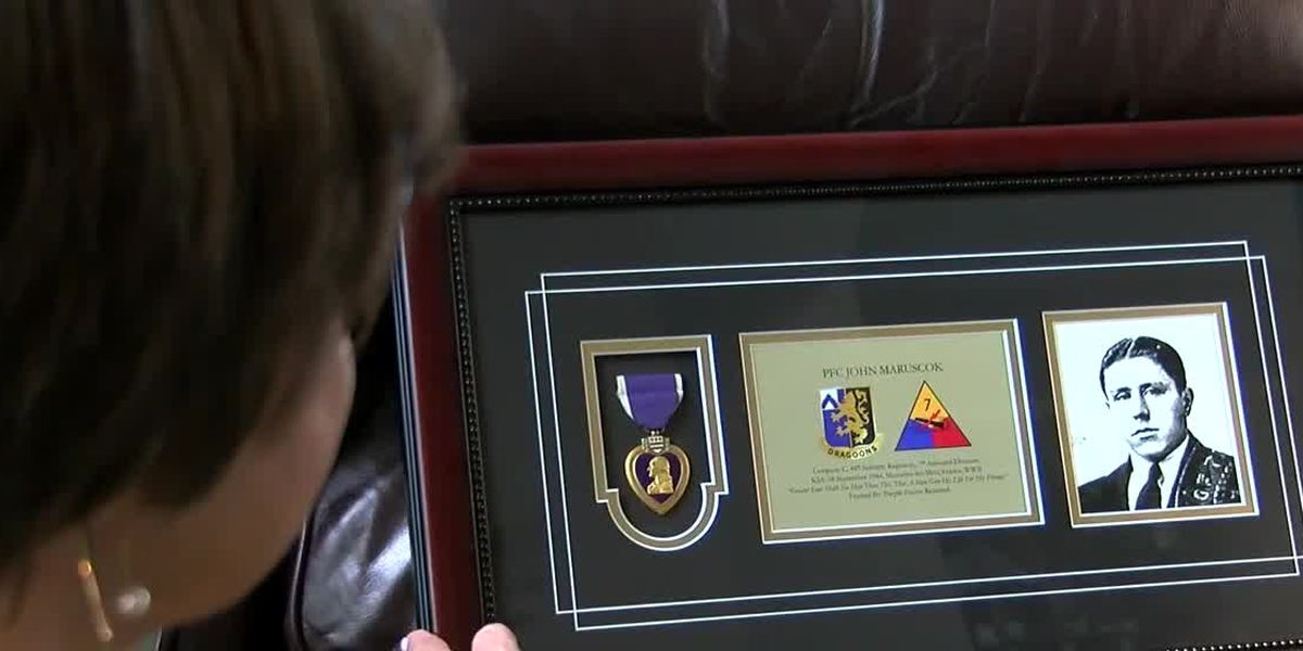Purple Heart belonging to WWII soldier reunited with surviving family members in Strongsville