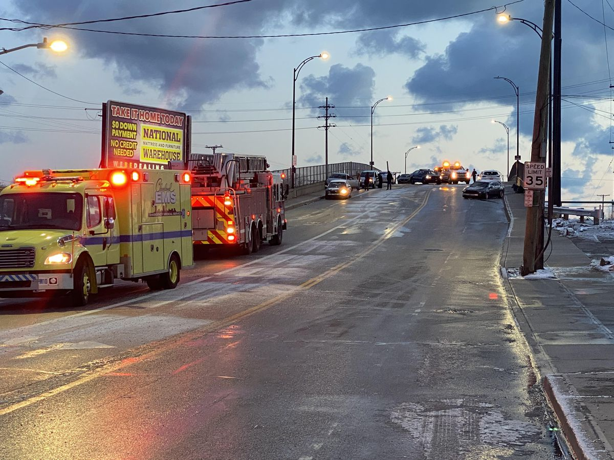Black ice causes multiple chain-reaction crashes on Cleveland's East and West sides